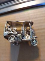 """Vintage Sterling Silver ? Plated ? Miniature Thailand Taxi  2 1/4"""""""