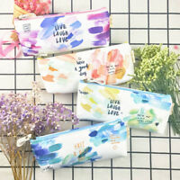 Cute Brush Doodle Pencil Cases Canvas School Supplies Stationery Pencil Bags---