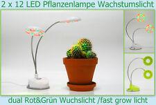 USB lampe 2x12 LED Zimmer Pflanzen Fast Grow Wuchs Wachstums Tages licht Leuchte