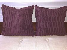 Bed Bath & Beyond Plum Wine Decorative Square Throw Pillows Set of 2 Beautiful!