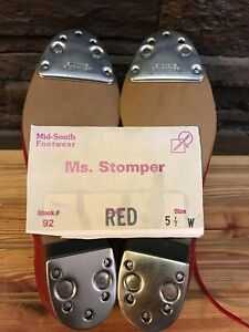 Ms. Stomper Size 5.5 W (Wide) WOMENS Clogging Shoes,With Steven Stomper Taps