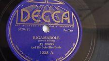 Les Brown - 78rpm single 10-inch – Decca #1238 Rigamarole