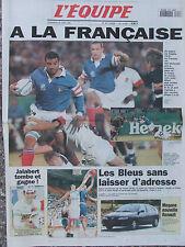 L'Equipe du 23/6/1995 - Rugby : les français 3eme - Jalabert - Basket