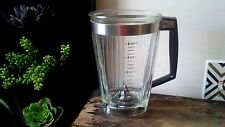 Vtg Rare Oval Base Mid Century Modern Glass Blender Pitcher Oval Top 4 Cup
