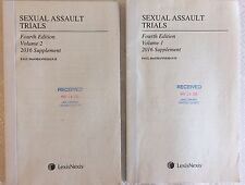 Sexual Assault Trials Fourth Edition 2016 Supplement Vol 1 and 2