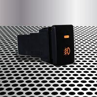 Factory Style 4-Pole On-off Car Dash Fog Button Switch w/Orange LED Indicator