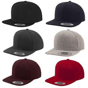 FLEXFIT ® ORIGINAL SNAPBACK CAP einfarbig Basic Baseball Kappe 2-tone Blank Hat
