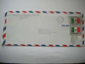 UN NY cover Mexico flags stamps