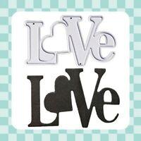 Metal Cutting Die - LOVE  - Valentine - Embossing - Crafting - Scrapbooking