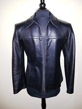 BOD & CHRISTENSEN COUTURE Soft Black Leather Zipper Jacket Coat MINT  - XS