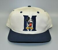 Mickey Mouse Disney Unlimited Vintage 90's Back Script Snapback Cap Hat - NWT