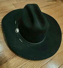 Vintage Charlie 1 Horse Fur Wool Made in USA Black Cowboy Hat Size 7 1/8 Western