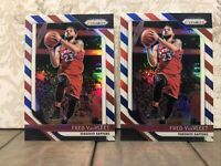 2018-19 Panini Prizm No.103 Fred VanVleet SP Red White Blue Refractor 1st Prizm