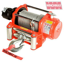 HYDRAULIC WINCH 10000 lb WINCHMAX ORIGINAL ORANGE WINCH, STEEL ROPE - WINCH ONLY