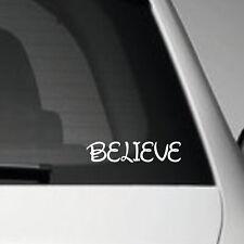 BELIEVE HOLOGRAPHIC CUSTOM STICKER - VINYL BUMPER STICKER GRAPHIC CAR DECAL