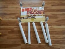LOT OF 6 CLEVELAND BROWNS JOIN MIDAS' SPECIAL TEAMS FOOTBALL ADVERTISING POSTERS