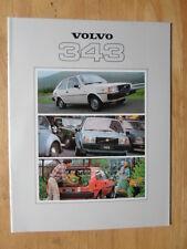 VOLVO 343 DL 1979 UK Mkt Prestige Sales Brochure