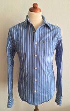 Abercrombie & Fitch | Hemd | Größe M | blau / weiß gestreift | Langarmhemd | USA