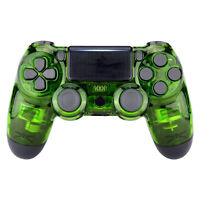Custom Crystal Green Front Housing Shell Cover For PS4 Slim Pro Game Controller