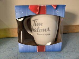 Tim Hortons Mug New In Box Porcelain Christmas Red Interior 2014