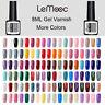 LEMOOC 8ml Soak Off Gel Polish Colorful UV LED Lamp Cure Nail Gel Varnish Decors