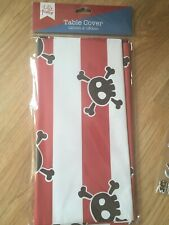 NEW Pirate Let's Party Birthday Tablecover Tablecloth Tableware Skull Crossbones