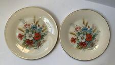 Lenox Special Vintage Design Gold Rim Collector Flower Plates Lot of 2