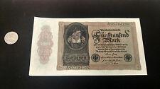 1922 German 5,000 Mark Reichsbanknote Uncirculated