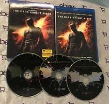 The Dark Knight Rises (Blu-ray + DVD, 2012, 3-Disc Set) + Lenticular Slip Cover!