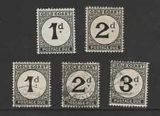 GOLD COAST -1POSTAGE DUES 1D &2D MINT AND 1D,2D,3D USED
