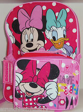 Disney Minnie Mouse Daisy Duck Backpack Lunch Tote Box Pink Back to School New