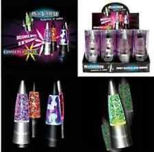 MINI LAMPE LAVE DISCO PAILLETTES ET BULLES 4 MODELES DIF LUMINEUX 15X4.5 CM