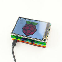 3.5 inch LCD Touch Screen Display Kit W/ Colorful Case for Raspberry Pi 2 3 FT