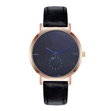 ZhouLianFa Fashion Men Crystal Formal Watches Leather Analog Quartz Wrist Watch