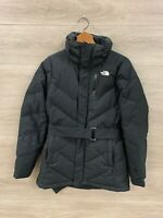 The North Face 600 Down Insulated Belted Winter Jacket Womens Size XS Black HN24