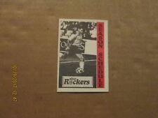 NPSL Detroit Rockers Vintage Defunct Circa 1990-91 Team Logo Pocket Schedule
