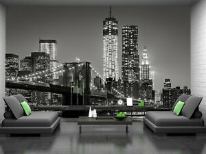 New York by Night  Photo Wallpaper Wall Mural DECOR Paper Poster Free Paste
