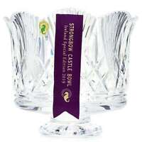 """House of Waterford Strongbow 8.5"""" Handmade Crystal Scalloped Edge Footed Bowl"""