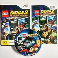 Mint Disc Nintendo Wii Lego Batman 2 DC Super Heroes Wii U Free Postage
