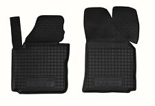 Rubber Front Car Floor Mats All Weather Alfombras Goma VW CADDY 2004-2014 2 pcs