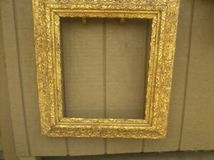 """Vintage Baroque Style Ornate Wide Scroll Leaf Gilded Wood Frame 24"""" X 28"""""""