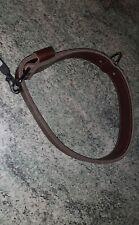 Collier marron en cuir pour grand chien (65cm)