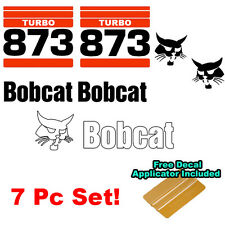Bobcat 873 TURBO Skid Steer Set Vinyl Decal Bob Cat Sticker Set MADE IN USA