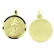 Heiliger Erzengel Michael Schutz- Anhänger mit Name Datum Gravur Echt Gold 333
