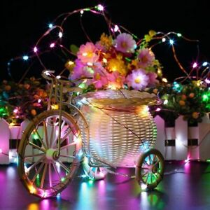 2-10M Copper Wire LED Fairy String Christmas Battery Lights Wedding Waterproof