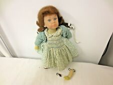 """1988 Margaret O'Brien by Rothschild 10"""" Hard Plastic Doll-Knee Jointed-Dress Tag"""