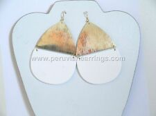 Wholesale of 12 pairs Wood earrings with golden and Silver Metal # 455