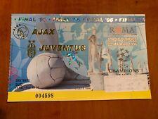 5 BIGLIETTI JUVENTUS CHAMPIONS LEAGUE 1996 COMPRESO FINALE DI ROMA 22 MAGGIO 96