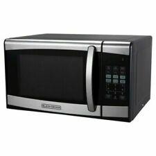 Black Decker 0.9 CU FT 900 Watt Microwave Oven Stainless Steel Child Safe