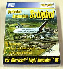 Schiphol Amsterdam MS FS Microsoft Flight Simulator 95 98 -- PC juego - ** nuevo **